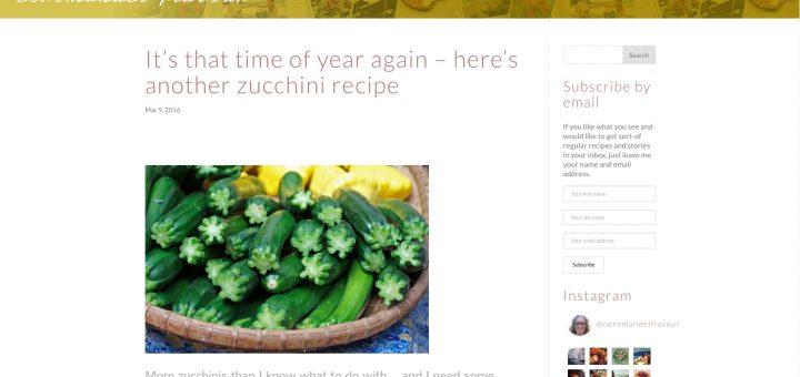 coromandel flavour blog support and design