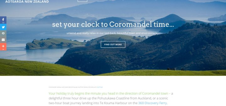 coromandel town tourism website development
