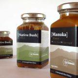 bee Coromandel honey jars and labels